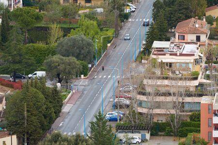 View of Avenue de Frejus in Mandelieu-La Napoule, French Riviera, France. 스톡 콘텐츠