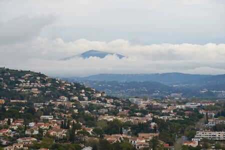 View on Mandelieu-La Napoule from the mountain in France