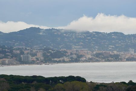 View on Cannes from the mountain in France