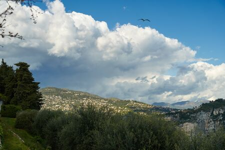 View of Nice from Monastere de Cimiez Garden, France. Stock Photo