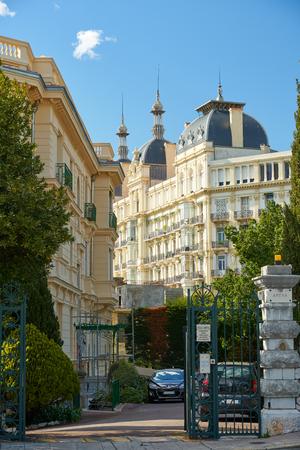 Nice, France - April 04, 2019: Beautiful arhitecture on Avenue des Arenes de Cimiez Editorial