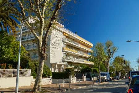Nice, France - April 04, 2019: On the Boulevard Prince de Galles Editorial