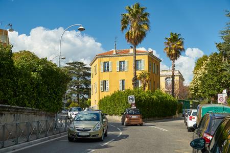 Nice, France - April 04, 2019: Avenue des Arenes de Cimiez