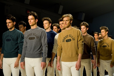 ellis: NEW YORK, NY - FEBRUARY 11: Models walk the runway at the Perry Ellis Fall 2011 fashion show during Mercedes-Benz Fashion Week at The Stage at Lincoln Center on February 11, 2011 in New York City. Editorial