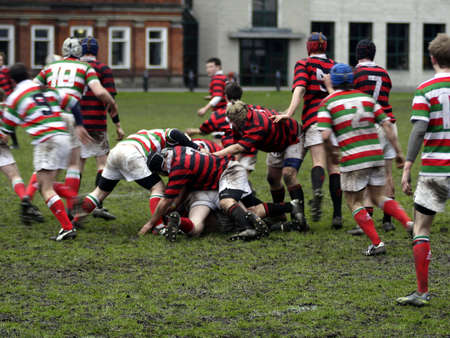 Rugby Players Stock Photo