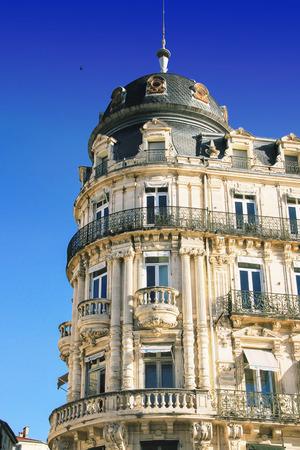 MONTPELLIER, FRANCE - MAY 27, 2014  Place de la Comedie - Theater Square of Montpellier on May 27, 2014 in Montpellier, France