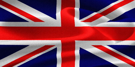 saint george: Flag of the United Kingdom waving in the wind. Silk texture pattern