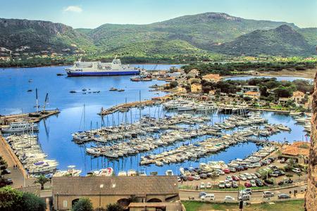 PORTO - VECCHIO, CORSICA, FRANCE - September 12, 2013: View to the harbor of Porto-Vecchio, Corsica, France