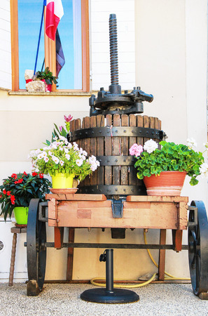 winepress: Wine-press in Gigondas  - typical Provence village, south of France