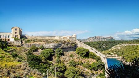Panoramic view of the Citadel of Bonifacio - Picturesque?Capital of Corsica, France photo