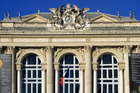 MONTPELLIER, FRANCE ? MAY 27, 2014: National Opera theater of Montpellier. (Built in the Italian style in 1888 ) on May 27, 2014 in Montpellier, France