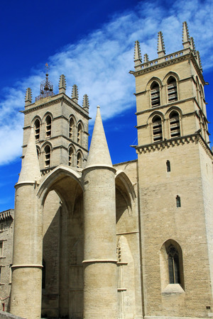 University of Medicine and  St Pierre Cathedral, Montpellier, south of France
