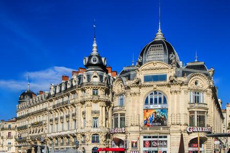 MONTPELLIER, FRANCE - MAY 27, 2014: Place de la Comedie - Theater Square of Montpellier on May 27, 2014 in Montpellier, France