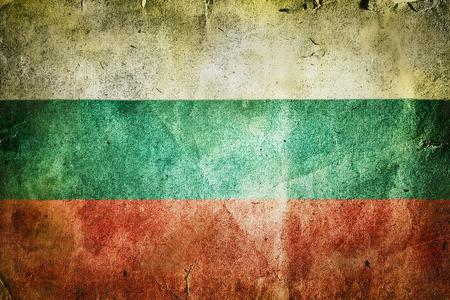 bulgaria: Flag of Bulgaria. Old vintage paper texture.