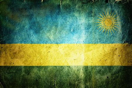 kigali: flag of Rwanda. Old vintage paper texture.