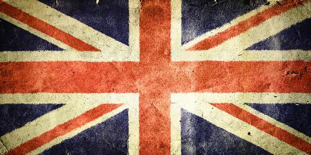 イギリスの旗。古いビンテージ紙のテクスチャです。 写真素材