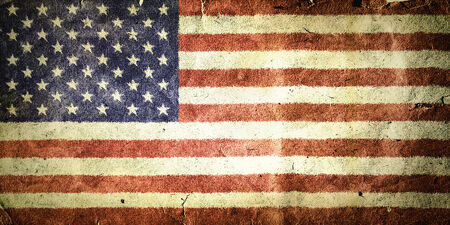 flag of the United States of America. Old vintage paper texture. Stock Photo