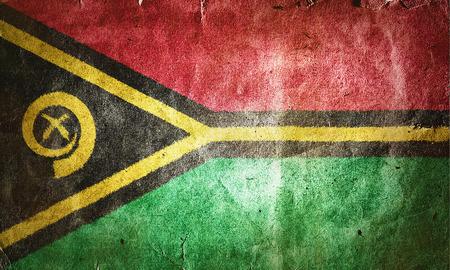 vanuatu: flag of Vanuatu. Old vintage paper texture.