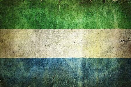 sierra: Flag of Sierra Leone Stock Photo