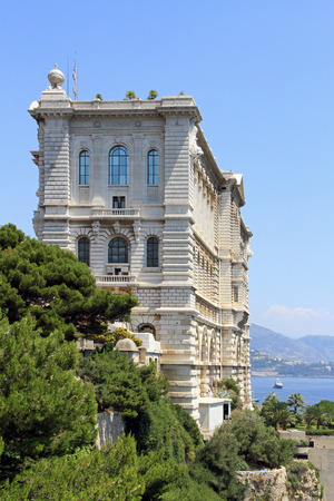 oceanographic: View from Monaco bay with Oceanographic Museum