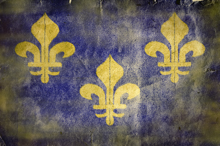 Old french flag. Old vintage paper texture.