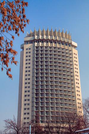alma: ALMATY, KAZAKHSTAN - FEBRUARY 16, 2014: Kazakhstan Hotel in in Almaty, Kazakhstan.