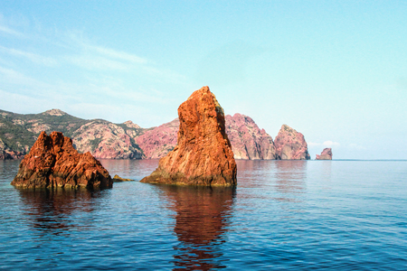 Rocks of Scandola Nature Reserve, Corsica, France
