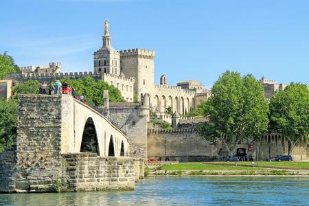 AVIGNON, FRANCE - MAY 08, 2014: Avignon in the Avignon scene and Avignon, France