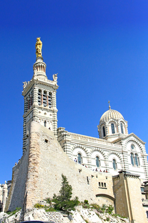Basilica of Our Lady of the Guard in Marseilles, France
