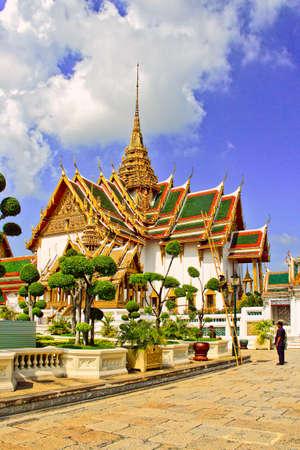Bangkok, Thailand - May 10, 2018: Buildings in the Grand Palace Complex in Bangkok Editorial