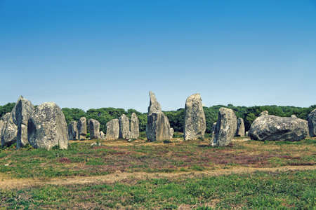 Carnac (Karnag) Stones– the largest megalithic site in the world consisting of alignments, dolmens, tumuli and single menhirs around the village of Carnac in Brittany, France