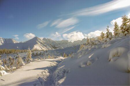 tatry: Beautiful winter mountain landscape. Tatry Stock Photo