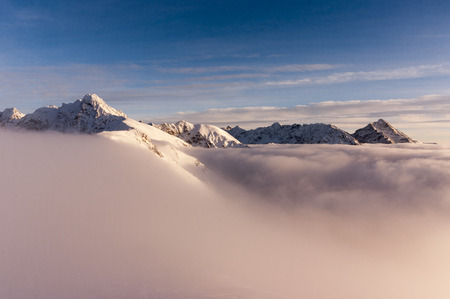 inversion: View of the peaks during the inversion. Tatry