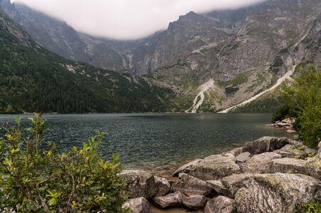 oko: Morskie Oko lake in the High Tatras