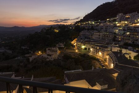 Mijas in the evening. Spain. Stock Photo - 85893827
