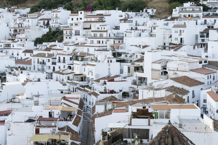 Typical white town in Andalusia. Mijas. Costa del Sol. Stock Photo - 92065835