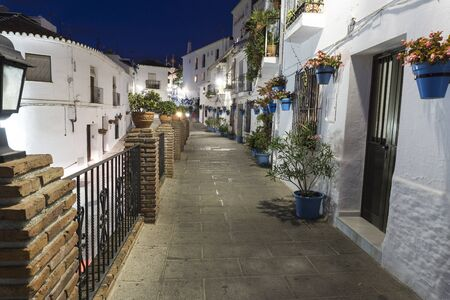Mijas street at night. Costa del Sol. Andalusia. Stock Photo - 91591723
