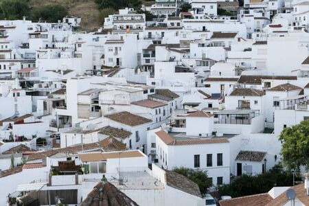 Typical white town in Andalusia. Mijas. Costa del Sol.