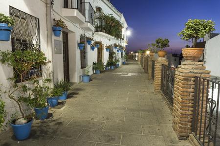 Mijas street at night. Costa del Sol. Andalusia. Stock Photo - 91743438