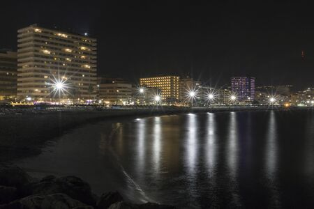 A beautiful night view of Fuengirola. Costa del Sol. Spain. Stock Photo