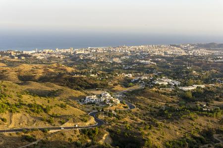 Costa del Sol view from Mijas. Malaga province. Spain. Stock Photo