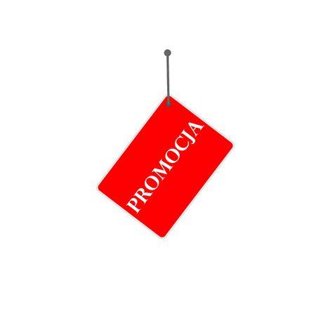 polish red sign promotion Ilustração
