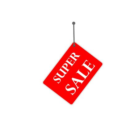 red sign summer sale