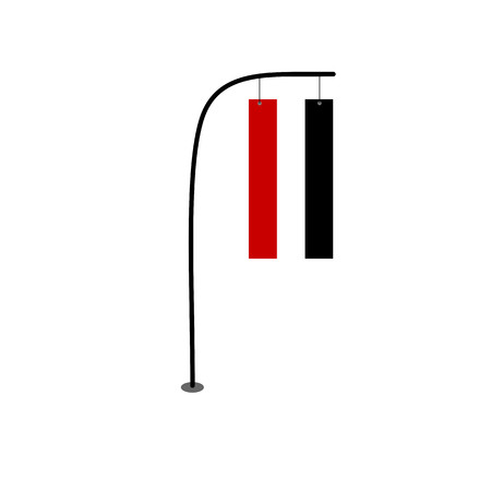 yemen flag vector on pole