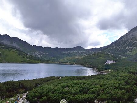 Valley of five ponds in the Tatra Mountains Europe Poland. Beautiful mountain landscape. Zdjęcie Seryjne