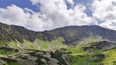 Landscape Picture form High Tatras mountains in Polish highest mountain range