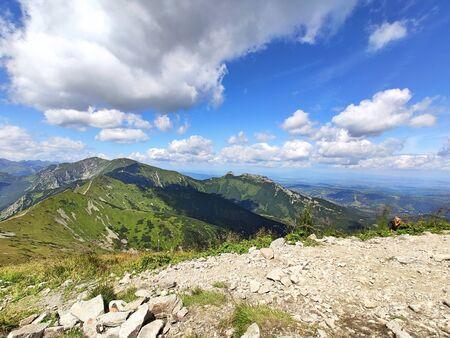 Tatra mountains. View from the top of Kasprowy Wierch mount. Tatry, Poland. Zdjęcie Seryjne