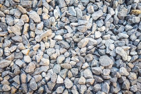 Gravel in garden background. texture of gravel stones on ground