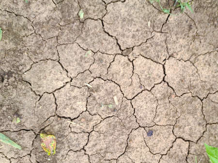 The cracked ground, the drought - background. Brown dry soil or cracked ground texture background. Dry and cracked land, dry due to lack of rain 版權商用圖片