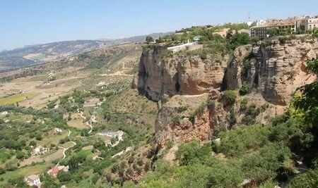 ronda: Rocks in andalusian village Ronda Stock Photo